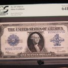 1923 $1 Silver Certificate * Large Note * PCGS -Very choice new CU 64 - PPQ -