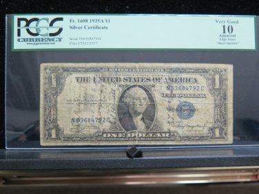 "1935 A $1 Silver Certificate.  ""Short Snorter' - U.S. Navy - Dated 6/18/44 -"