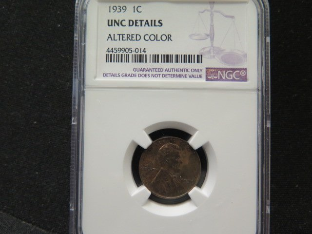 1939 1C Lincoln Wheat Penny.  Choice Bold Strike.  UN-Circulated Details.
