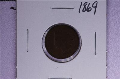 1869 1C. Indian Head Penny.  Good Circulated Condition. Coin Store Sale #1670