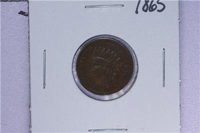 1865 1C. Indian Head Penny.  Good Circulated Condition. Coin Store Sale #1662