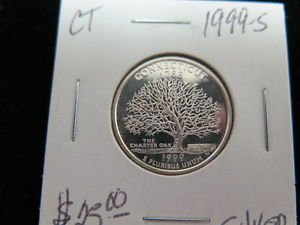 1999-S Washington State Silver Proof Quarter. GEM SILVER. New Jersey Silver.