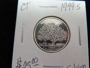 1999-S Washington State Silver Proof Quarter. GEM SILVER. Connecticut Silver.
