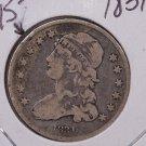 1831 25C Capped Bust Quarter.  Choice Details, Rim Ding.  Coin Sale #1754