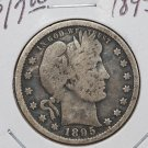 1895 25C Barber Silver Quarter. Very Good Circulated Coin. Sale #1772