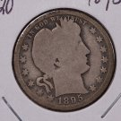 1895-O Barber Quarter. Good Circualted Coin. Sale #1774