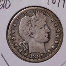 1899-O 25C Barber Silver Quarter. Good Plus Circulated Coin. #1790