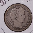 1900-S 25C Barber Silver Quarter. Nice Strong Good Coin. #1794