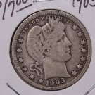 1903 25C Barber Silver Quarter. Very Good Circulated Coin. #1798