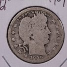 1909-S 25C Barber Silver Quarter. Good Circualted Coin. Store #1816