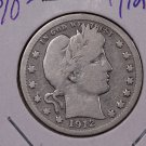 1912 25C Barber Silver Quarter.  Good Circulated Coin. SALE #1822