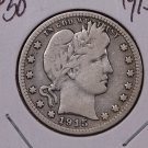 1915-S 25C Barber Silver Quarter. Very Good Circualted Coin. Sale #1838