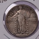 1920-D 25C Standing Liberty Silver Quarter. V.F. Circulated Coin. SALE#1848
