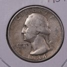 1934 25C Washington Silver Quarter. Very Fine Circulated Coin. Store#1872