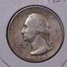 1934 25C Washington Silver Quarter. Very Fine Circulated Coin. Store#1872