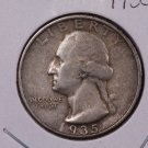 1935-D 25C Washington Silver Quarter. Good to Very Good Circulated Coin. #1888