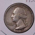 1935-D 25C Washington Silver Quarter. Good to Very Good Circulated Coin. #1888
