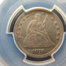 1872 25C Liberty Seated Quarter.  Choice Eye Appeal. PCGS AU53. Very Nice.