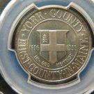 1936 50C York County, Maine. Silver Commemorative. Choice Grade PCGS MS65.