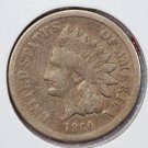 1860 1C Indian Head Cents. Very Good Circulated Coin. Store Sale#2473