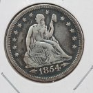 1854-O 25C Liberty Seated Quarter,  Good Circulated Condition. Store Sale#2313