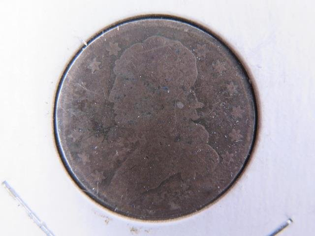 1835 25C Capped Bust Quarter. Poor to Fair Circulated Condition. Coin Sale #9412