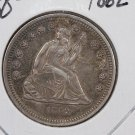 1862 25C Liberty Seated Quarter, Toned, UN-Circulated Coin, Store #2345