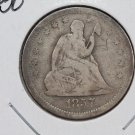 1857-O 25C Liberty Seated Quarter, Very Good Circulated Coin. Store Sale. #2325