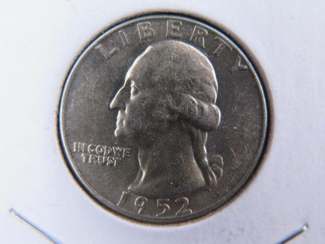 1952-D  25C Washington Silver Quarter. Gem Brilliant UN-Circulated. NICE #9554