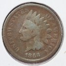 1866 1C Indian Head Cents,  Good Circulated Coin. Store Sale #2505