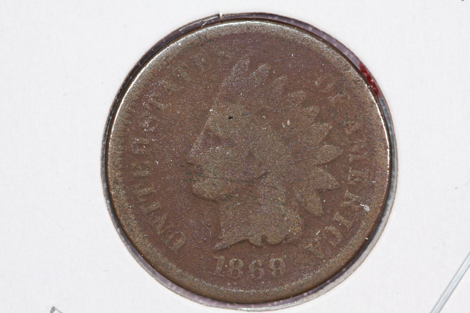 1869 1C Indian Head Cents. Good Circulated Coin. Store Sale #2515