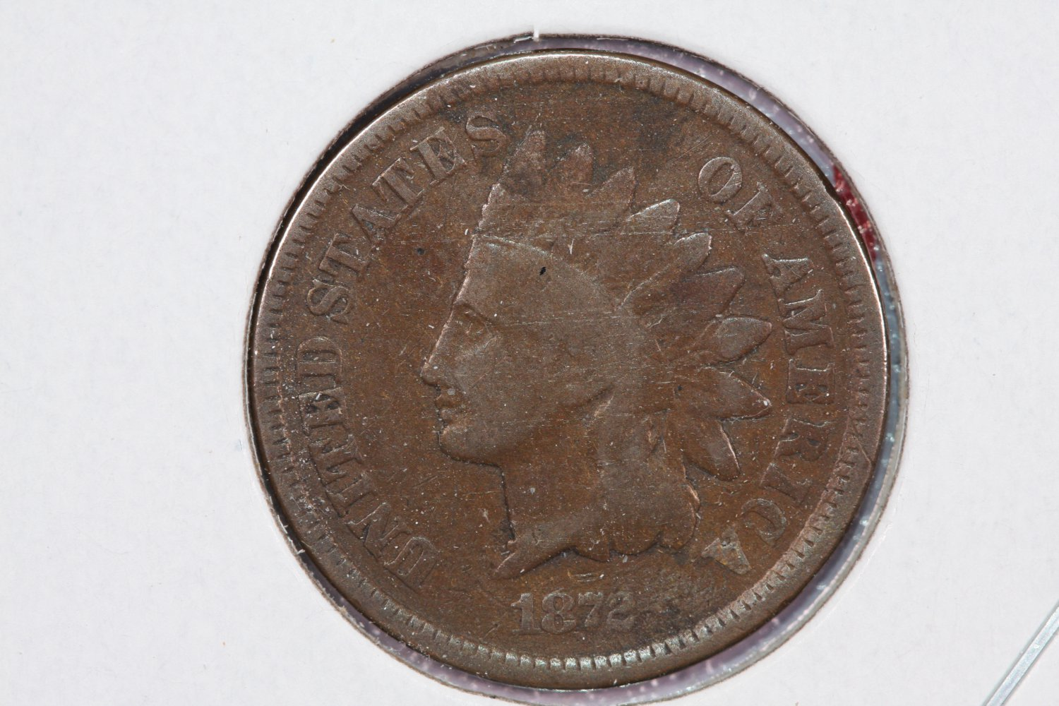 1872 1C Indian Head Cents, Good Circulated Coin. Store Sale#2526