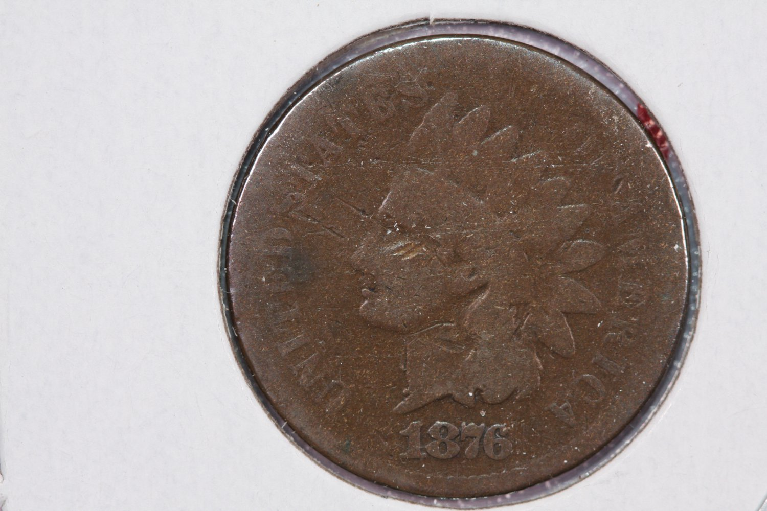 1876 1C Indian Head Penny. Good Circualted Condition. Store Sale #2545