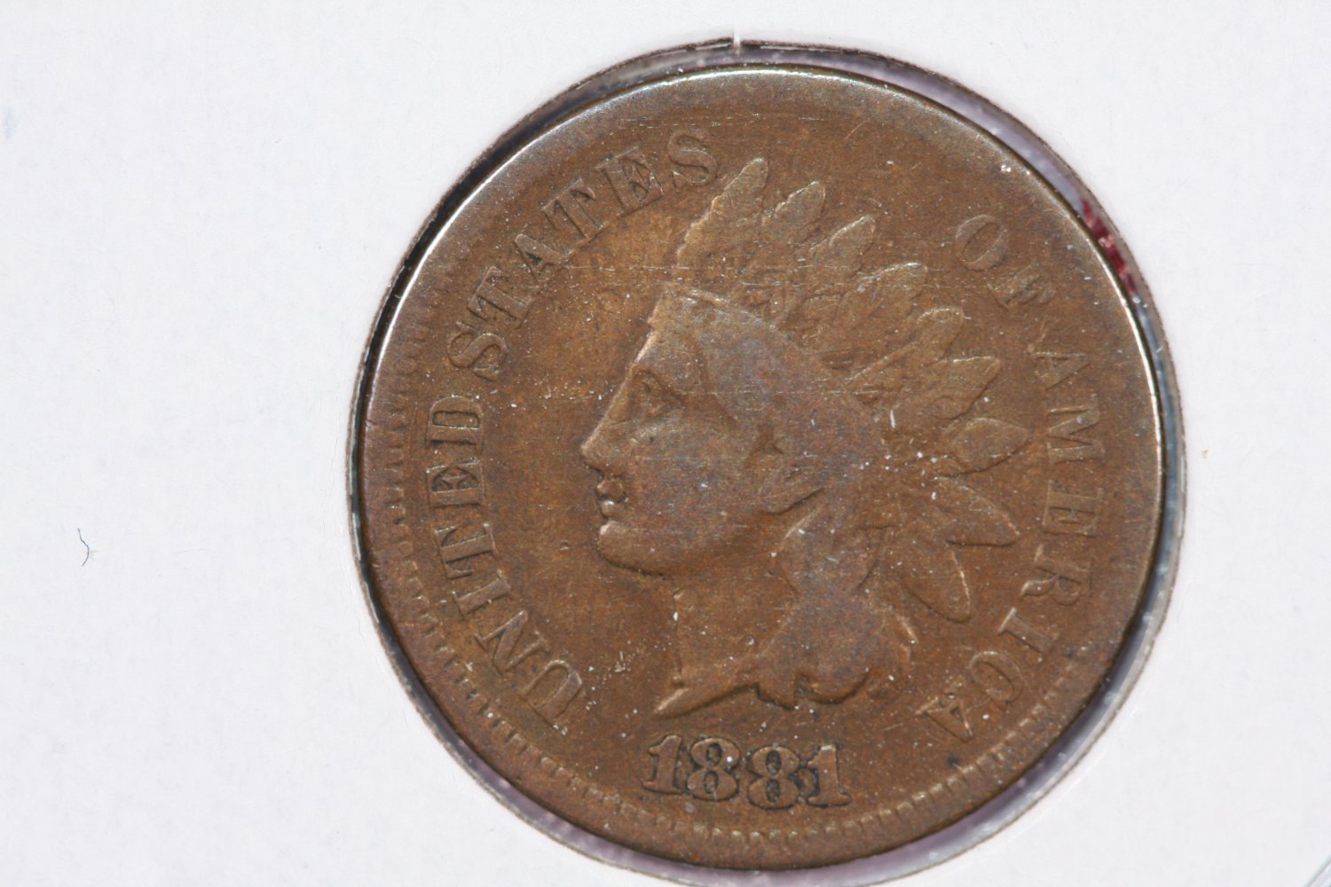 1881 1C Indian Head Cents. Good Circulated Coin.  Store Sale #2563
