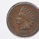 1903 1C Indiain Head Cents. Choice Very Good Circulated Coin. Super Sale #2649