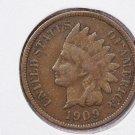 1907 1C Indiain Head Cents. Choice Very Good Circulated Coin. Super Sale #2667