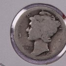 1917-D 10C Mercury Silver Dime. Good Circulated Coin. Summer Blow-out Sale #2689
