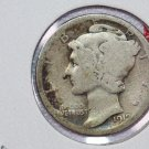 1919-D 10C Mercury Silver Dime. Good Circulated Coin. Store #2701