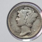 1921 10C Mercury Silver Dime.  AFFORDABLE KEY DATE. Good Circulated Coin. #2711