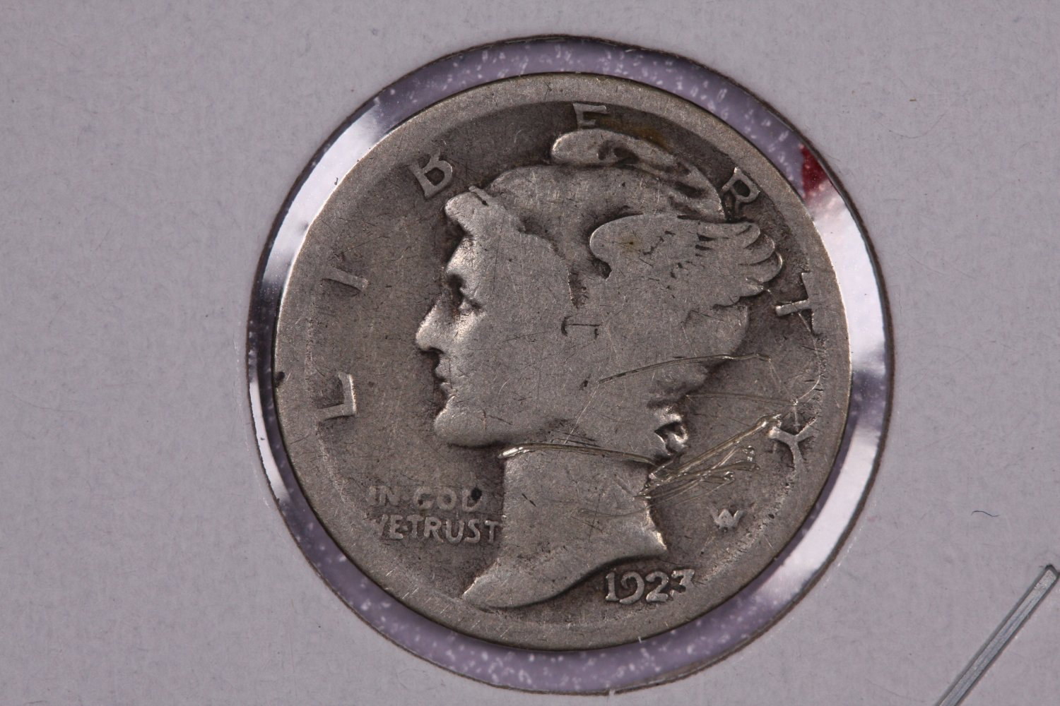 1923-S 10C Mercury Silver Dime. Good Circulated Coin. Store # 2717