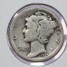 1925-S 10C Mercury Silver Dime. Good Circulated Coin. Store #2729