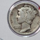 1927 10C Mercury Silver Dime. Good Circulated Coin. STORE SALE#2735