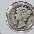 1927-S Mercury Silver Dime. Good Circulated Coin. SALE #2737