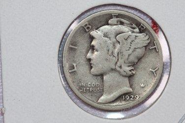 1929-S 10C Mercury Silver Dime. Good Circulated Coin. STORE #2753