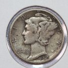 1935-D 10C Mercury Silver Dime.  good circulated coin.  sale #2769