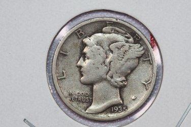 1935-S 10C Mercury Silver Dime. Good Circulated Coin. Sale # 2771