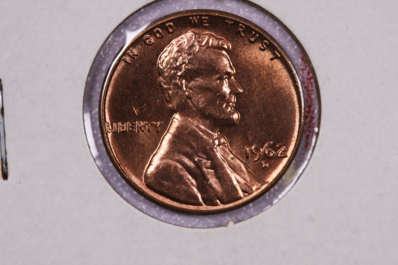 1962-D 1C Lincoln Memorial Penny. Brilliant UN-Circulated ...