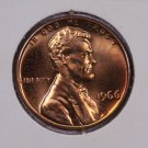 1966 1C Lincoln Memorial Penny. Brilliant UN-Circulated Coin.