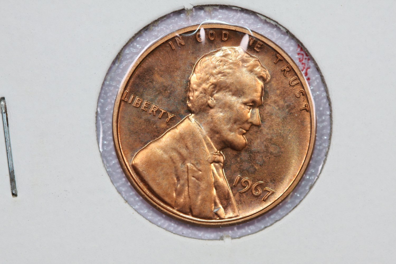 1967 1C Lincoln Memorial Penny. Brilliant UN-Circulated, SMS Coin.
