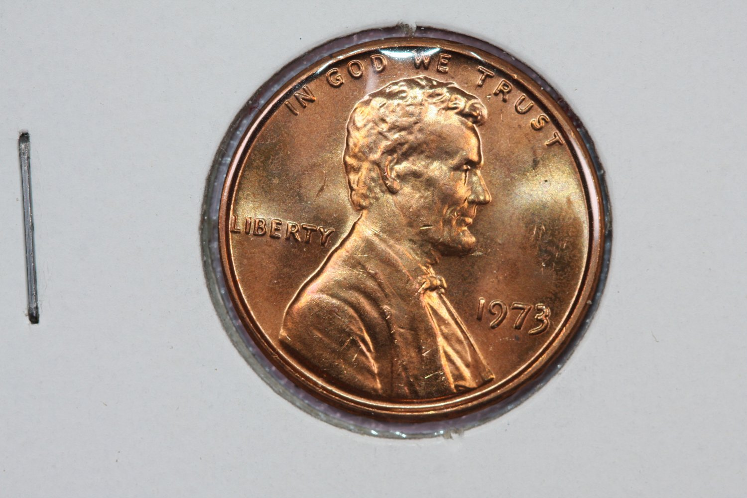 1973 1C Lincoln Memorial Penny.  Brilliant UN-Circulated Coin. Store #3443
